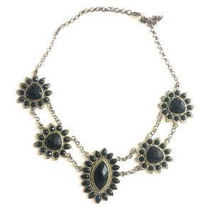 Francesca's Black Statement necklace